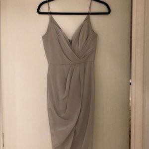 Zimmermann grayish silver midi dress 0